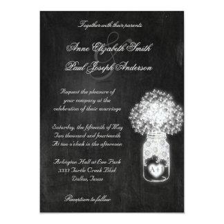 Chalkboard Mason Jar Wedding Invitations VI