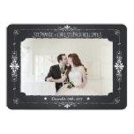 Chalkboard Mason Jar Wedding Photo Thank You Card Invitations
