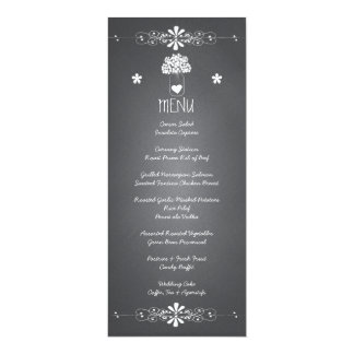 Chalkboard Mason Jar Wedding Reception Menu Card