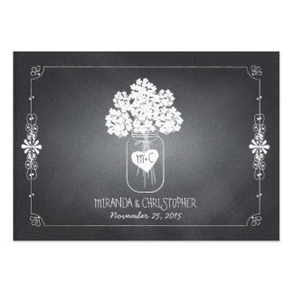 Chalkboard Mason Jar Wedding Seating Place Card Pack Of Chubby Business Cards