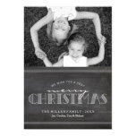 "Chalkboard Merry Christmas Holiday Letter Card 5"" X 7"" Invitation Card"