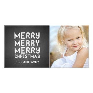 CHALKBOARD MERRY CHRISTMAS HOLIDAY PHOTO CARD
