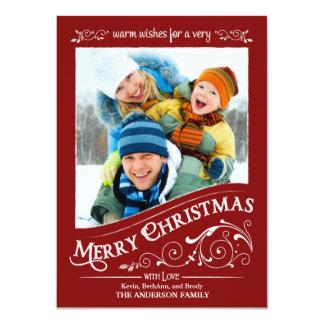 Chalkboard Merry Christmas Photo Flat Card