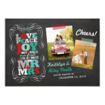 Chalkboard Mistletoe Vintage First Christmas Photo 13 Cm X 18 Cm Invitation Card
