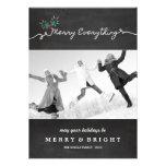 Chalkboard Mistletoes Christmas Holiday Greeting Custom Invites