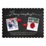 Chalkboard Mistletoes Christmas Holiday Greetings Custom Invitation