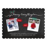 Chalkboard Mistletoes Christmas Holiday Greetings 13 Cm X 18 Cm Invitation Card