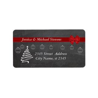 Chalkboard  modern trendy holiday Christmas Address Label