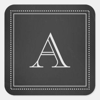 Chalkboard Monogram Envelope Seal