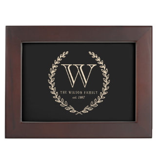 Chalkboard Monogram Keepsake Box