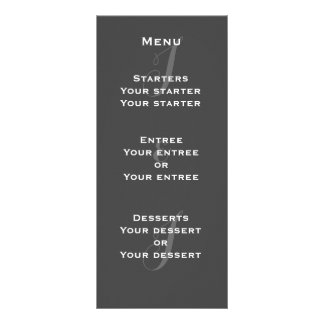 Chalkboard Monogram Menu Rack Cards