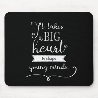 """""""Chalkboard"""" Mousepad with a Quote for Teachers"""