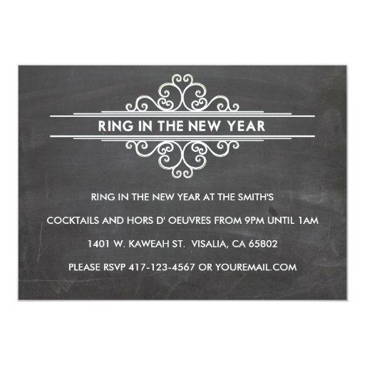 Chalkboard New Year Invintation 13 Cm X 18 Cm Invitation Card