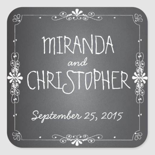 Chalkboard Personalized Favor Stickers