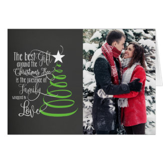 Chalkboard Photo Christmas Card