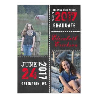 Chalkboard Photo Graduation Announcement