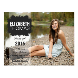 Chalkboard Photo Graduation Party Announcement Postcard