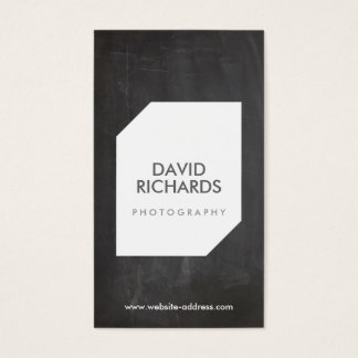 CHALKBOARD PHOTO LOGO Photographer Business Card