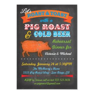 Chalkboard Pig Roast party invitation