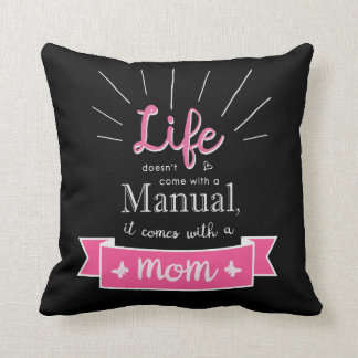 """""""Chalkboard"""" Pillow with a Quote for Mom"""