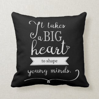 """""""Chalkboard"""" Pillow with a Quote for Teachers"""