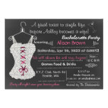 Chalkboard pink Lace Lingerie Shower Bachelorette Personalized Invitation