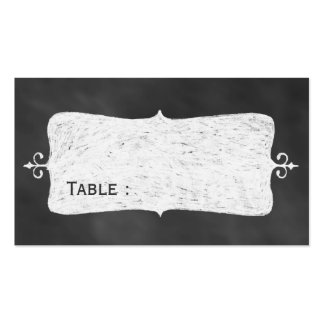 Chalkboard Place Card Pack Of Standard Business Cards