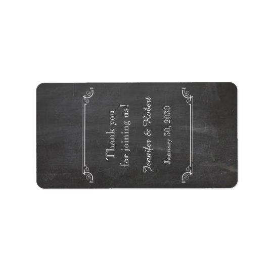 Chalkboard Posh Wedding Lip Balm Label