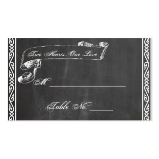 Chalkboard Posh Wedding Place Cards Business Card