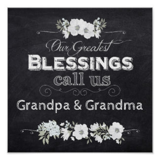 """Chalkboard Poster-Our Greatest Blessings 12 x12"""" Poster"""