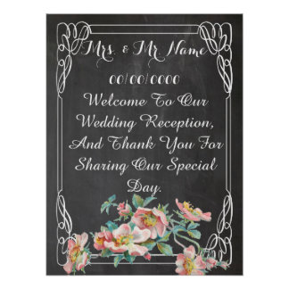 chalkboard poster ,wedding poster