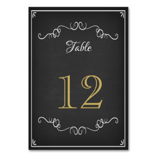 Chalkboard Reception Table Number