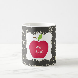 Chalkboard- Red Apple Teacher's Coffee Mug