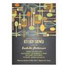 Chalkboard Retro Stock the Kitchen Bridal Shower Card