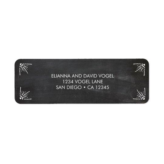 Chalkboard Return Address Label