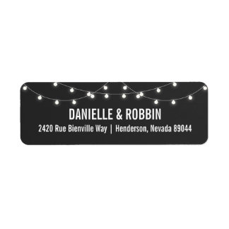 Chalkboard Return Address Labels with Lights