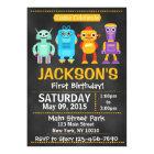 Chalkboard Robot Birthday Party Invitation