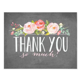 Chalkboard Rose Garden | Thank You Card