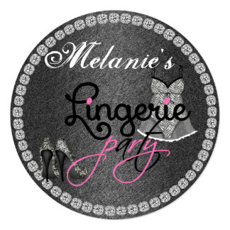 CHALKBOARD ROUND Lingerie Party Invitation