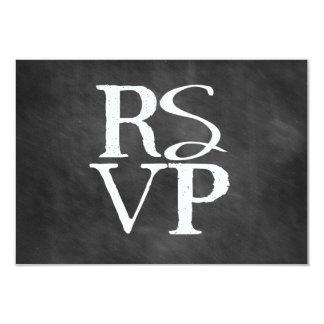 Chalkboard RSVP Block Card