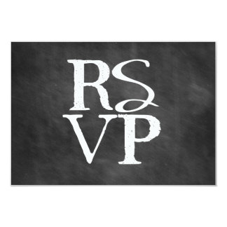 Chalkboard RSVP Block Card 9 Cm X 13 Cm Invitation Card