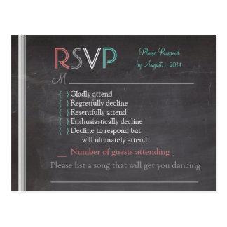 Chalkboard RSVP Card