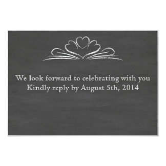 Chalkboard RSVP Personalized Invites