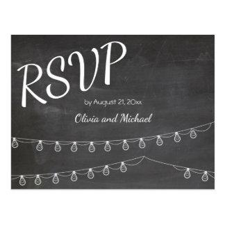 Chalkboard RSVP Postcard for wedding