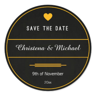 Chalkboard Save The Date Announcement (2)