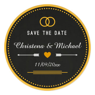 Chalkboard Save The Date Announcement (3)