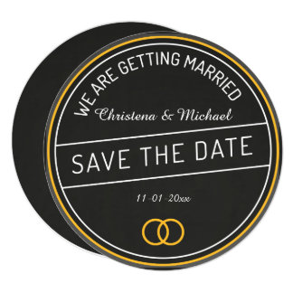 Chalkboard Save The Date Announcement (4)