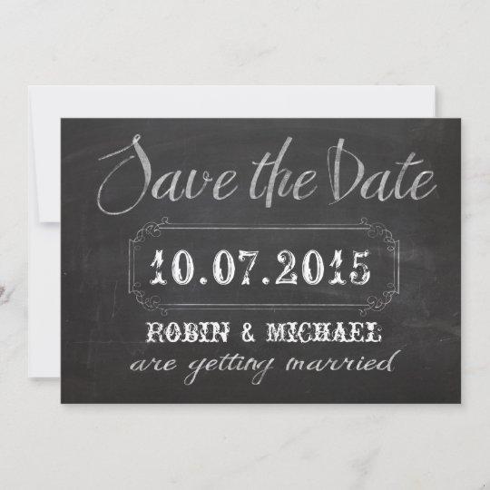 chalkboard save the date invitation