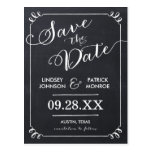 Chalkboard Script Modern Typography Save the Date