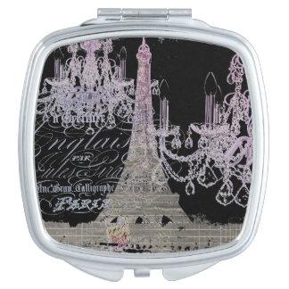 chalkboard scripts chandelier paris eiffel tower compact mirrors